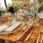 dinnerware on table top 1395964